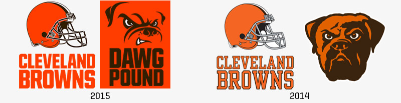 Cleveland Browns Logos for 2015 – Flatter, Bolder…Adorable?
