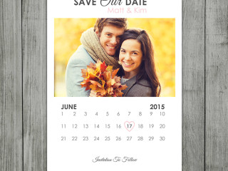 Save The Date Calendar Announcement