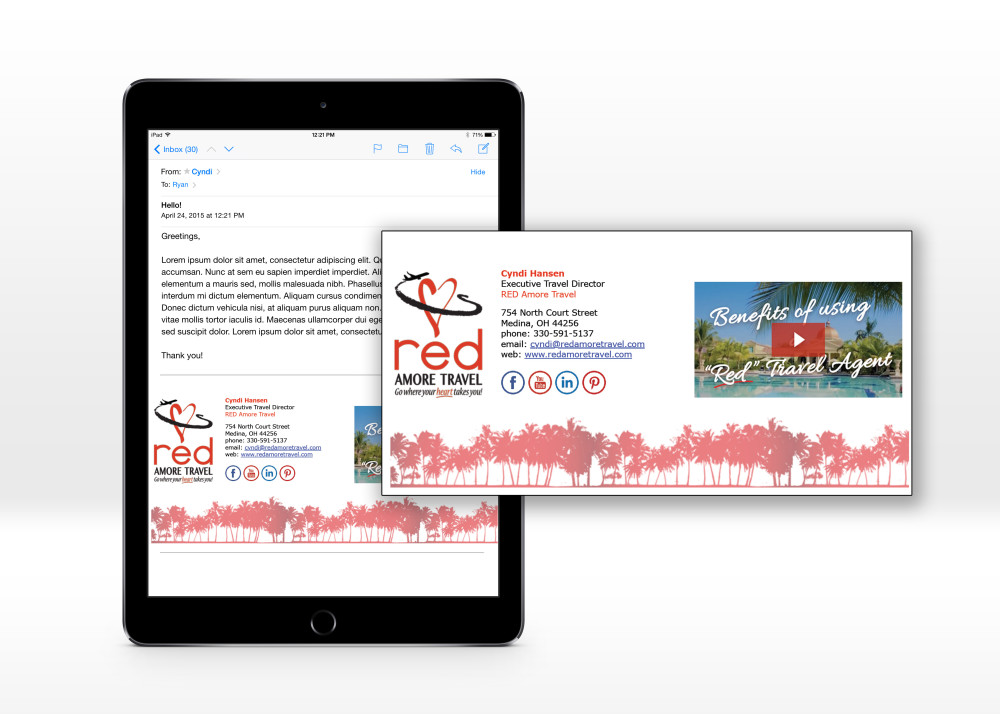 ipad email red sig
